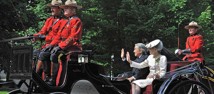 Their Majesties, the Emperor and Empress of Japan on their visit to Canada in 2009