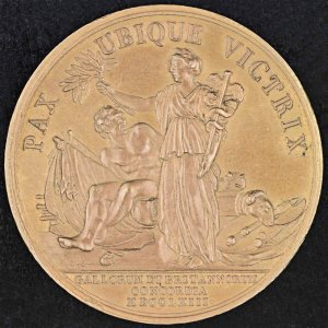Commemorative medal from Treaty of Paris